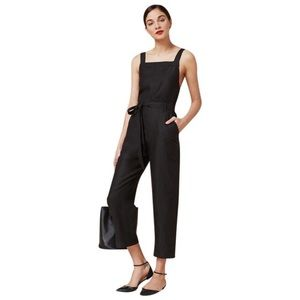Reformation | Black Lunna Zipper Jumpsuit